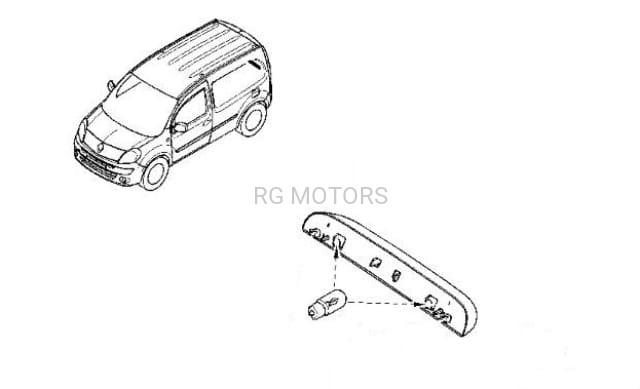 Lampka Tablicy Rejestracyjnej Renault Kangoo Ii Oryginał